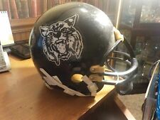 Vintage NCAA CONNECTICUT HUSKIES Game Used Riddell Football Helmet RARE GAMER