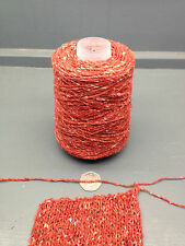 250G 80% WOOL 20% NYLON YARN 2.7NM RED / RUST DONEGAL YARN F1491