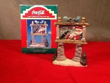 Coca-Cola Christmas Village Billboard Tablepiece -1998