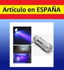P LINTERNA ULTRAVIOLETA para billetes falsos discotecas mini UV 9 LEDs backlight