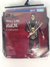 Skull Lord Ninja Costume Halloween Dress Up Boys Size Small 6 Fun World New