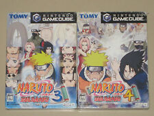 *Complete with Memory Cards* Nintendo GameCube NARUTO 3 + 4 NTSC-J Japan Import