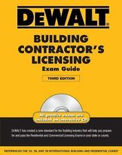 DEWALT Building Contractor's Licensing Exam Guide (DEWALT Series)