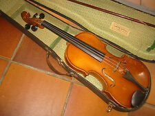 "Nice old 4/4   Violin violon ""Anton Galla l"" Nicely flamed   back, original Case"
