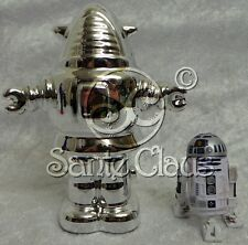 FORBIDDEN PLANET : ROBBY THE ROBOT SILVER MONEY BANK MADE OF CHINA