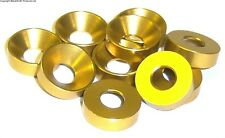 L1435 M3 3mm Countersunk  Washer Alloy Aluminium Yellow x 10