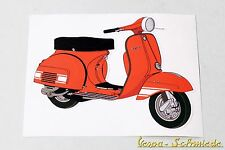 "VESPA Dekor Aufkleber ""Rally 200"" - Rot - Sticker Beinschild 180 Orange SS"