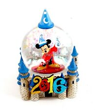 NEW Disney Parks 2016 Sorcerer Mickey Mouse Fantasia Snow Globe