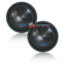 """Two (2) ALPINE SWS-12D2 12"""" Dual 2-Ohm Type-S Series Car Subwoofers 3,000 Watts"""