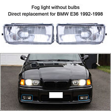 92-98 BMW E36 3 SERIES 2/4D OEM REPLACEMENT FOG LIGHTS LAMPS CRYSTAL CLEAR LENS