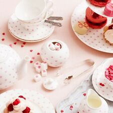 Milk Jug & Sugar Bowl - Bombay Duck 'Bisous' White with Pink Hearts, Tea Party