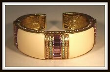 "HEIDI DAUS ""FRENCH CHIC"" CRYSTAL AND RESIN CUFF BRACELET - RETAIL $189 - HSN"