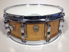 1990s Vintage Ludwig Satinwood 5x14 Snare Drum Limited Edition #10 Mint