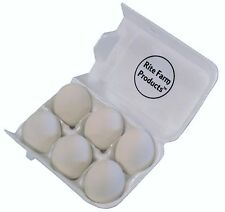 6 PACK WHITE CERAMIC DUMMY CHICKEN NESTING NEST FAKE TRAINING EGG HATCHING CRAFT