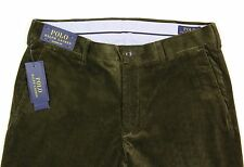 Men's POLO RALPH LAUREN Olive Green Corduroy Pants 34x32 34 NWT NEW