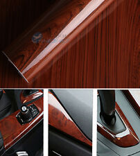 Glossy Wood Grain Textured Vinyl Self-adhesive Car Wrap Decals Sticker 30x124cm