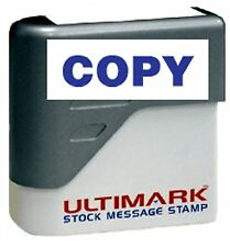 COPY text on Ultimark Pre-inked Message Stamp with Blue Ink