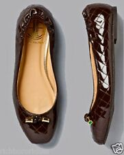 Lilly Pulitzer brown quilted patent Knot Just Another Ballet Flat NWOB 6 $202