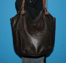THE SAK Indio Dark Brown Leather Hobo Bucket Slouch Tote Shoulder Bag Purse