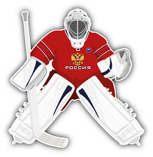 Russia Hockey Team Goalie Car Bumper Sticker Decal 5'' x 5''