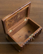 MEDIUM Vintage Classic Magic IQ Secret Puzzle Wooden Box with Hidden Key