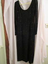 Monsoon black sequin evening/cocktail dress 12