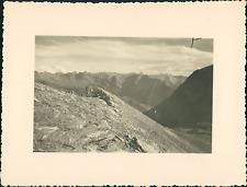 France, Haut-Queyras, Crêtes au dessus du Lac de Malriff Vintage silver print