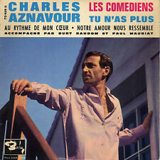CHARLES AZNAVOUR LES COMEDIENS FRENCH ORIG EP PAUL MAURIAT