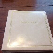 VTG TOP GRAIN COWHIDE LEATHER PHOTO ALBUM GOLD TRIM NEW NEVER USED
