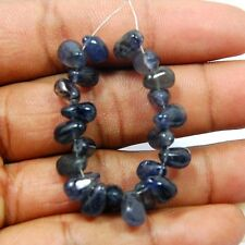 ( 21 PC) NATURAL REAL TRANSLUCENT IOLITE LOOSE GEMSTONE LOOSE BEADS, 40.00 CTS