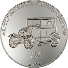 Congo 2003 Renault 10 Francs Silver Coin,Proof