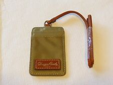 Dooney and Bourke ID Credit Card lanyard necklace YJ099 KH khaki badge travel
