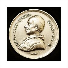 Very Rare Cased Silver Papal Medal 1888. Pope Leo XIII 50 Years In Priesthood.