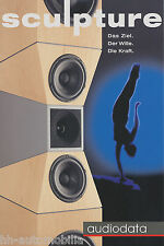 Prospekt Audiodata Sculpture Lautsprecherboxen brochure HiFi Loudspeakers 2002