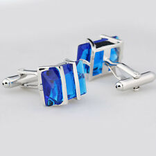 Luxury Royal Blue Metal Mens's Wedding Party Gift Shirt Cuff Links Cufflinks FT