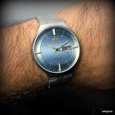 Orologio Orient vintage meccanico automatico funzionante quadrante blu