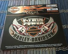 Authentic -Harley Davidson Decal DCDC123643 Oval Wings Pistons with Bar & Shield