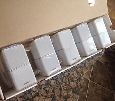 5 Bose Jewel Double Cube Speakers in White-Premium. Flawless Condition.