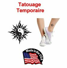 TATOUAGE TEMPORAIRE TRIBAL YING YANG TATOO MADE IN USA