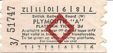 "B.R.B. AA Platform Ticket - Plymouth ""A"""