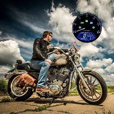 Motorcycle Universal LCD Digital Speedometer Tachometer Odometer Gauge US Stock