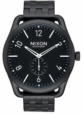 NEW Nixon A951 001 C45 SS Black Men's Stainless Steel Watch