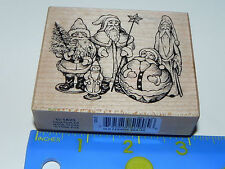 1996 PSX Rubber Stamp G-1825 Old Fashioned Santas Christmas Old World Santa
