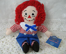 """Raggedy Andy Applause 80th Birthday Edition 12"""" with Tags I love You on Chest"""