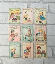 Vintage Retro Birthday Card Toppers, Gift Tags Craft Make Your Own Cards