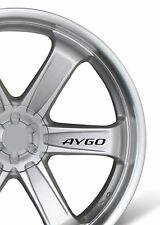 6x Car Alloy Wheel Sticker fits Toyota Aygo Bodywear Decal Adhesive PT93
