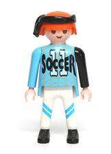 "Playmobil Figure Sports Soccer Player w/ ""11"" Shirt Black Headwrap 3868"