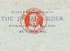 The Jovian Order St. Louis Missouri 1917 Coil R Lanphier Springfield IL Cover ö