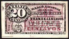 1900 COLOMBIA 20 CENTAVOS BANKNOTE * 79813 * EF * P-265 *