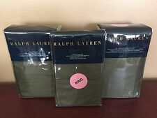 RALPH LAUREN 4-PC CALIFORNIA CAL KING TWEED GREEN RL 624 TC SATEEN SHEET SET